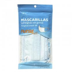 Mascarillas Desechables Tipo IIR Nursia Mask Caja 5 uds