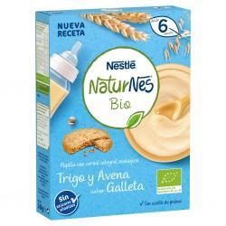 NESTLÉ Naturnes BIO Papillas de Trigo y Avena Sabor Galleta 240g