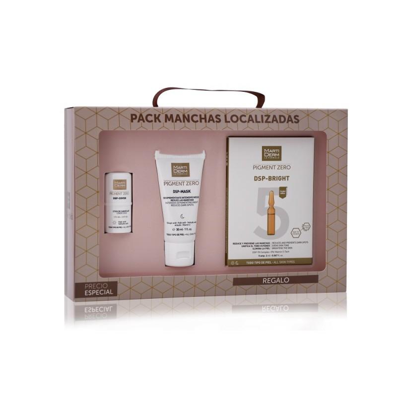 MARTIDERM Pack Manchas Localizadas Stick + DSP Mask + 5 ampollas DSP Bright