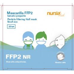 20x Mascarillas FFP2 Infantil 4 Capas ≥95% Filtración NURSIA