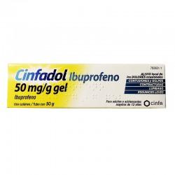 CINFADOL Ibuprofeno 50mg/g Gel Tópico Uso Cutáneo 50gr
