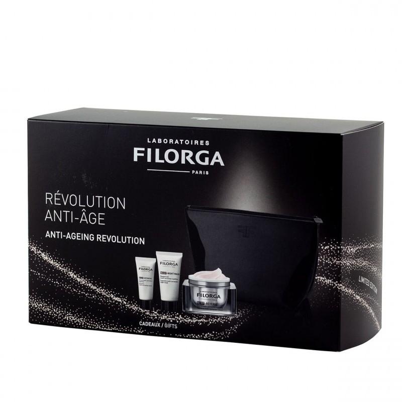 FILORGA Cofre Revolution Antiedad NCEF: Serum + Máscara de Noche + Crema Multicorrectora