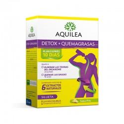 AQUILEA Detox + Quemagrasas 10 Sticks Solubles