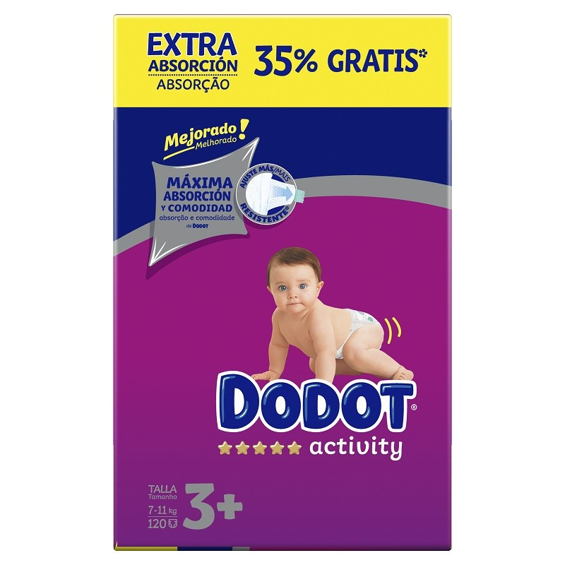 DODOT Pañales Activity Extra Box Talla 3 (120 Unidades)