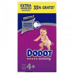 DODOT Pañales Activity Extra Box Talla 4 (104 Unidades)