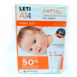 LETI AT4 Crema Facial Piel Atópica DUPLO 2x50ml
