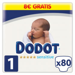 DODOT Pañales Sensitive Talla 1 x80 Unidades