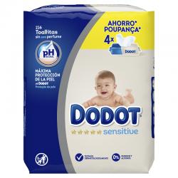 DODOT Toallitas para Bebés Sensitive 4x54 Unidades
