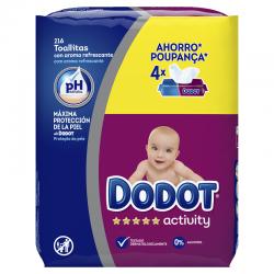 DODOT Toallitas para Bebés Activity 4x54 Unidades