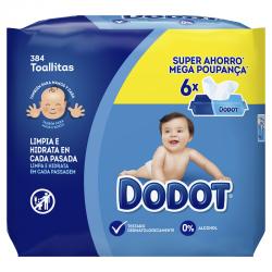 DODOT Toallitas para Bebés 6x64 (384 Unidades)