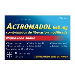 ACTROMADOL 660mg 8 Comprimidos