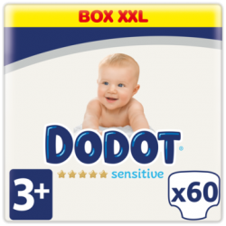 DODOT Pañales Sensitive Extra Jumbo Talla 3 (60 Unidades)