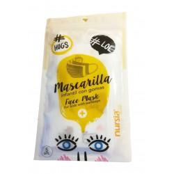 MASCARILLAS NIÑOS Desechables Tipo IIR Palex Nursia Pack 5 Unidades