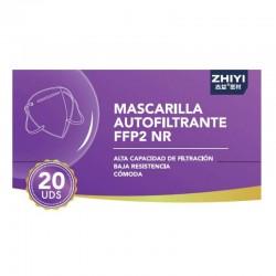 20x Mascarillas FFP2 Autofiltrantes 5 Capas BFE 95% NR Caja 20 Mascarillas -PEROXFARMA-