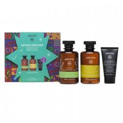 APIVITA Pack Ducha Frescura y Suavidad: Gel + CHampú + Limpiador Facial