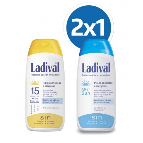 LADIVAL Protector Solar FPS 15 200ML + Aftersun 200ML