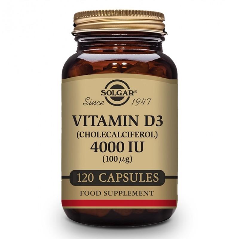 SOLGAR Vitamina D3 4000iu 120 Cápsulas Vegetales