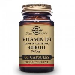 SOLGAR Vitamina D3 4000iu 60 Cápsulas Vegetales