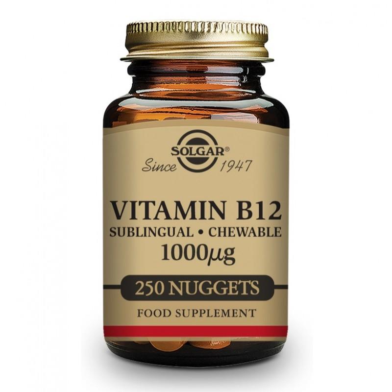 SOLGAR Vitamina B12 (1000μg) 250 Comprimidos Masticables