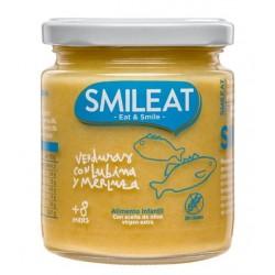 SMILEAT Potito Ecológico Verduras con Lubina y Merluza 230g