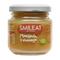 SMILEAT Potito Ecológico Manzana y Naranja 130g