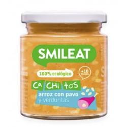 SMILEAT Potito Ecológico Cachitos Arroz con Pavo y Verduras 230g