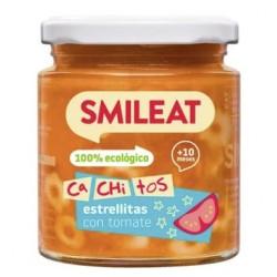 SMILEAT Potito Ecológico Cachitos Estrellitas con Tomate 230g
