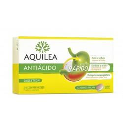 AQUILEA Antiácido Sabor Menta 24 Comprimidos Tricapa