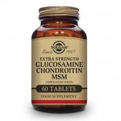 SOLGAR Glucosamina Condroitina MSM Concentrado 60 Comprimidos