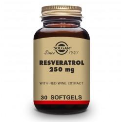 SOLGAR Resveratrol 250mg con Extracto de Vino Tinto 30 Cápsulas Blandas