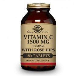 SOLGAR Vitamina C con Rose Hips (Escaramujo) 1500mg (180 Comprimidos)