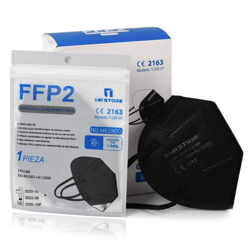 20x MASCARILLAS FFP2 con Certificado CE Negra BFE 94% Caja 20 Mascarillas - 1 MI STORE