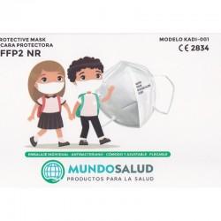 25x Mascarillas FFP2 para Niños con Certificado CE ≥95% Filtración Bacteriana MUNDOSALUD
