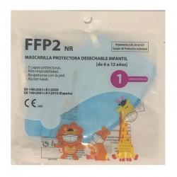 Mascarilla FFP2 Infantil color Azul con Certificado CE ≥95% Filtración Bacteriana (5 capas)