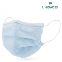 10x Mascarillas Quirúrgicas Infantiles Color Azul Tipo IIR BFE 95% Pack 10 unidades