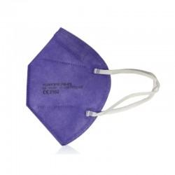 MASCARILLA FFP2 con Certificado CE color Morado BFE 95% NR 1 mascarilla