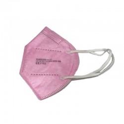 MASCARILLA FFP2 con Certificado CE color Rosa BFE 95% NR 1 mascarilla