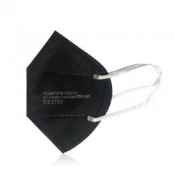 MASCARILLA FFP2 con Certificado CE color Negro BFE 95% NR 1 mascarilla