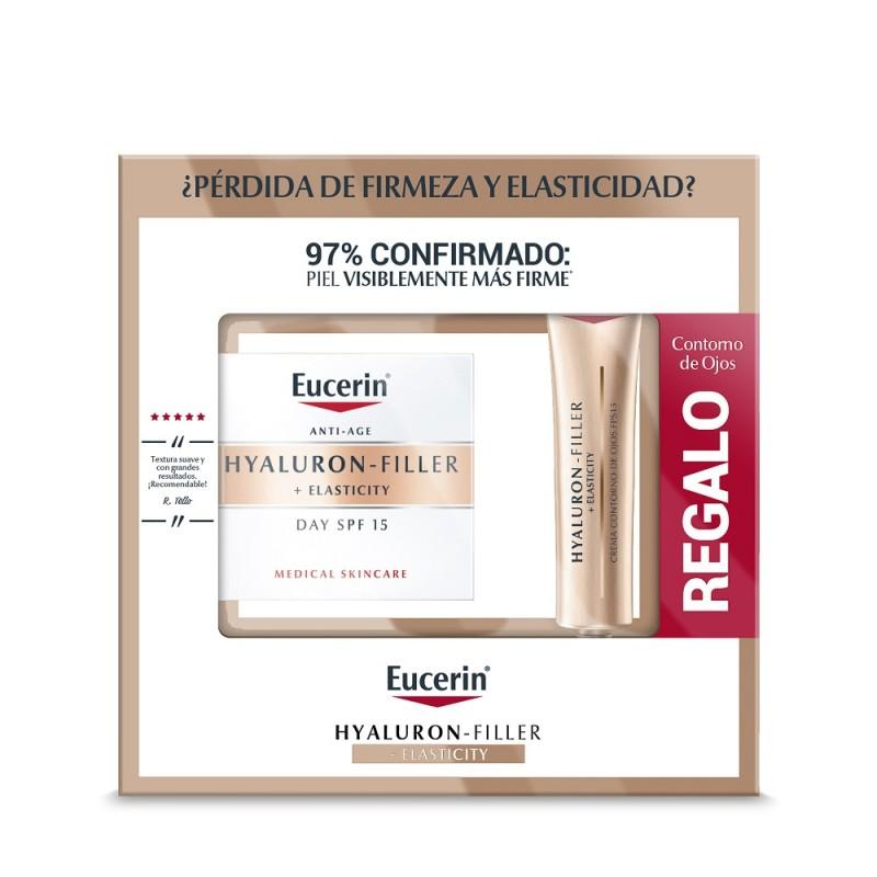 EUCERIN Hyaluron-Filler Elasticity Pack Crema Día FPS 15 + Contorno de Ojos de REGALO
