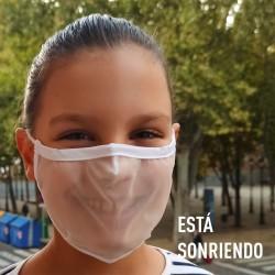 Mascarilla Transparente Homologada Reutilizable Viroblock Talla M - BEYFE-