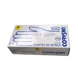 Guantes de Nitrilo Sin Polvo Sin Látex Talla S 100 unidades -CORYSAN-