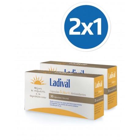 LADIVAL Cápsulas Solares Antioxidantes 2x30 Cápsulas