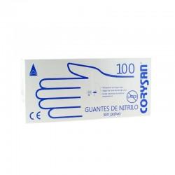 Guantes de Nitrilo Sin Polvo Sin Látex Talla M 100 unidades CORYSAN