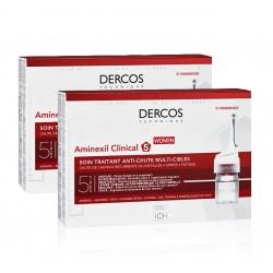 VICHY Dercos Aminexil Clinical 5 Mujer DUPLO 2x21 Monodosis