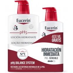 EUCERIN pH5 Loción Hidratante Piel Sensible 1L + 400ml GRATIS