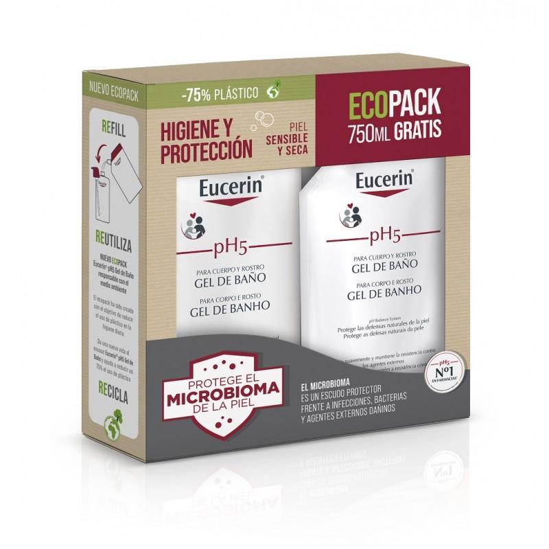 EUCERIN pH5 Gel de Baño Piel Seca y Sensible 1000ml + 750ml GRATIS ECOPACK