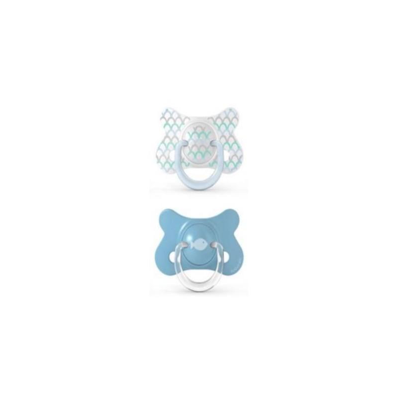 SUAVINEX Chupete Látex Fusion 4-18 Meses x2 (Azul)