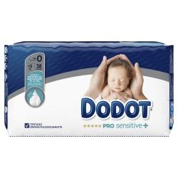 DODOT Pro Sensitive+ Talla 0 (de 0 a 3kg) 38 Unidades