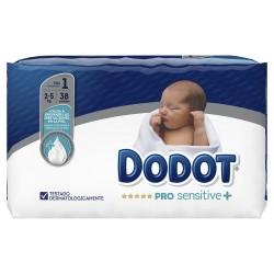 DODOT Pro Sensitive+ Talla 1 (de 2 a 5kg) 38 Unidades