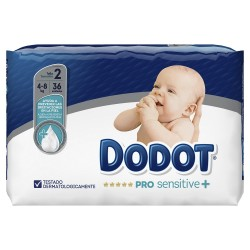 DODOT Pro Sensitive Talla 2 (de 4 a 8kg) 36 Unidades